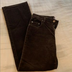 Women's Silver brand jeans brown micro suede 32X32